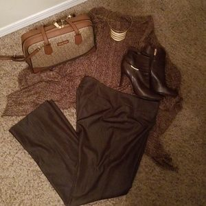 Nine West Safari Trouser Expresso Brown Size 12